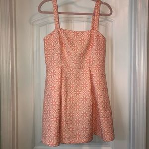 NWOT Forever 21 Pink and Yellow Pattern Dress